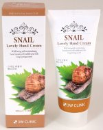Крем для рук 3W Clinic Snail Lovely Hand Cream, 100 ml