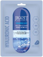 JIGOTT Тканевая маска для лица ГИАЛУРОН HYALURONIC ACID Real Ampoule Mask, 27 мл, 10 шт