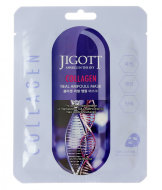 JIGOTT Collagen Real Ampoule Mask Ампульная маска для лица с Коллагеном, 27 мл